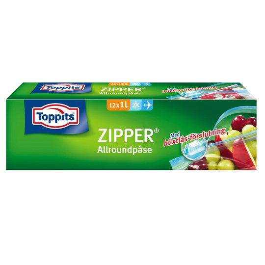 Allroundpåsar Zipper 1l 12-pack - 28% rabatt
