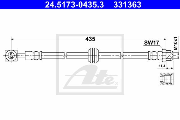 Jarruletku ATE 24.5173-0435.3