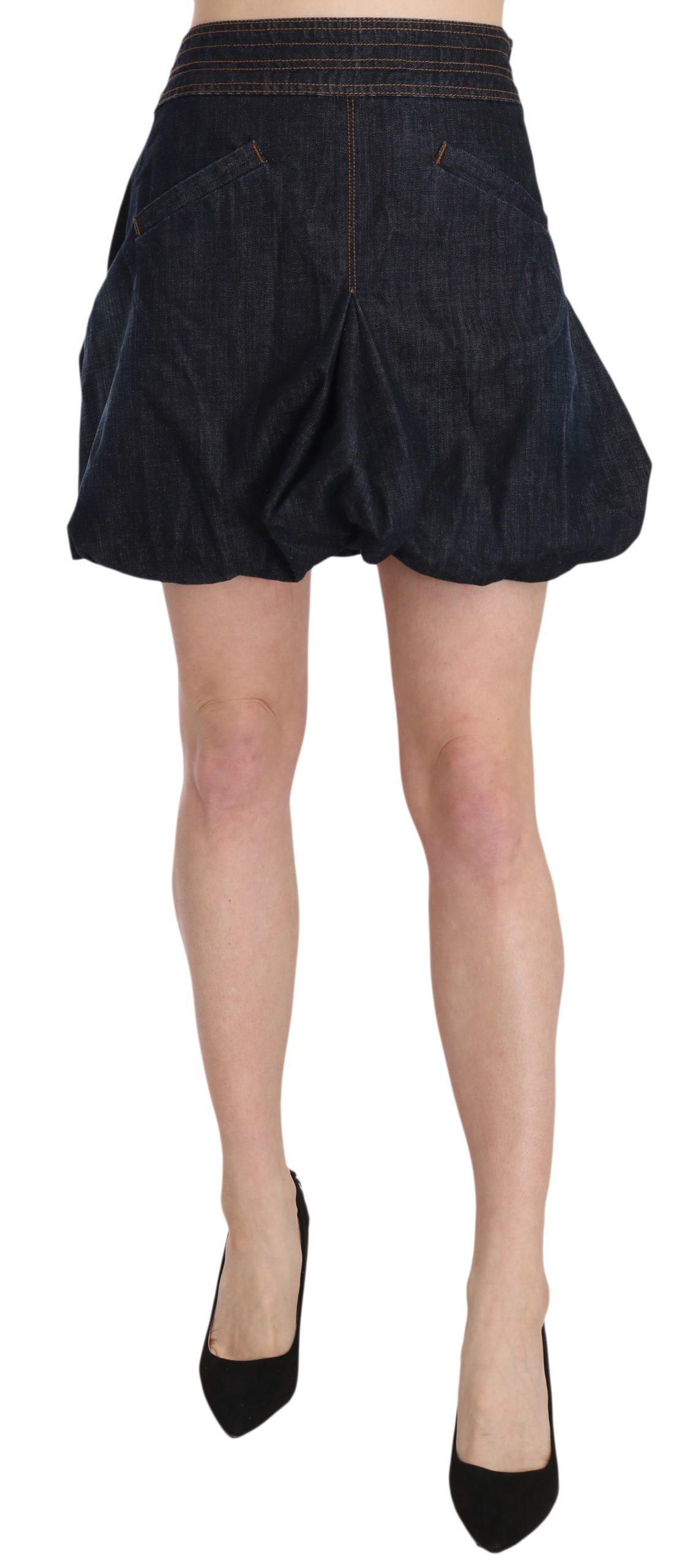 Exte Women's Denim Cotton Stretch A-line Mini Skirt Blue PAN70172 - IT42|M