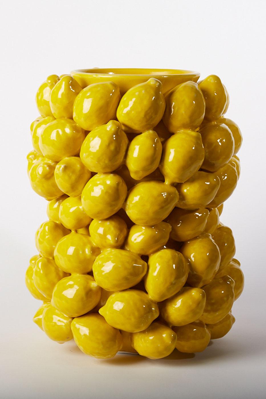 Vas Citron 36 cm gul