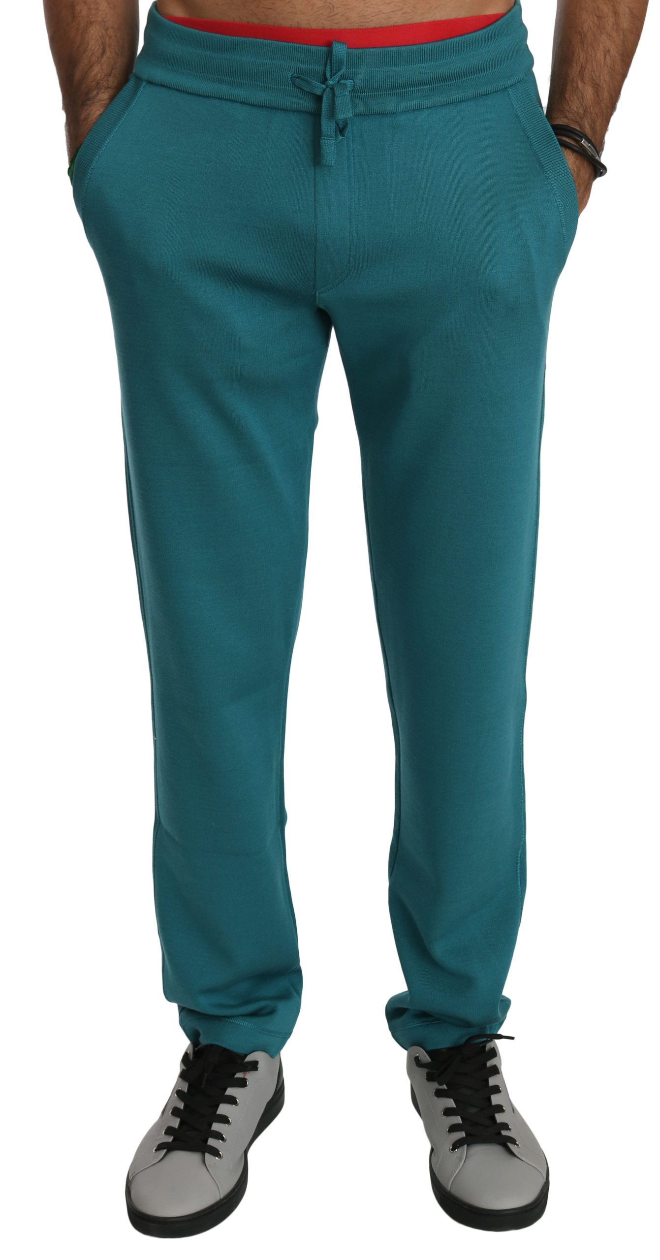 Dolce & Gabbana Men's Silk Sweatpants Sport Trouser Blue PAN70751 - M