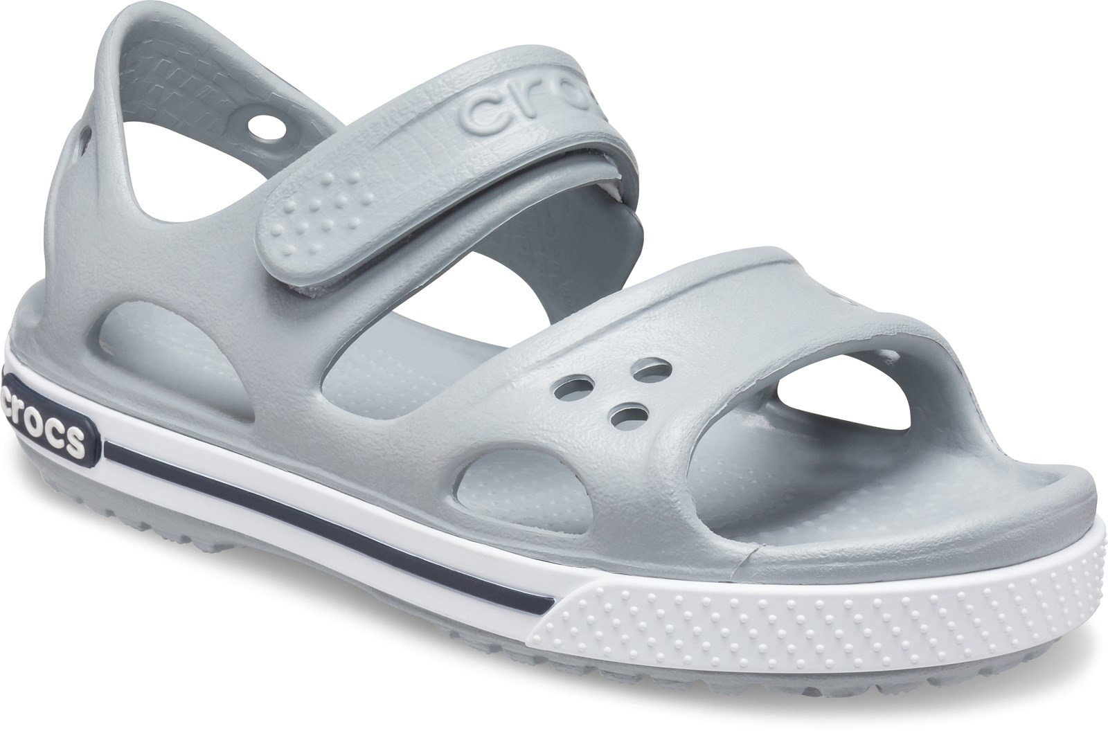 Crocs Kid's Crocband ll Touch Fastening Sandal Various Colours 28788 - Light Grey/Navy 4