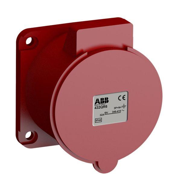ABB 2CMA102386R1000 Paneluttak hurtigtilkoblet, vibrasjonsbestandig Rett, 5-polet, 32 A, 60x60 mm