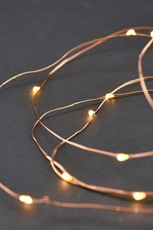 Lyslynge 80 lamper 10 m - Kobber