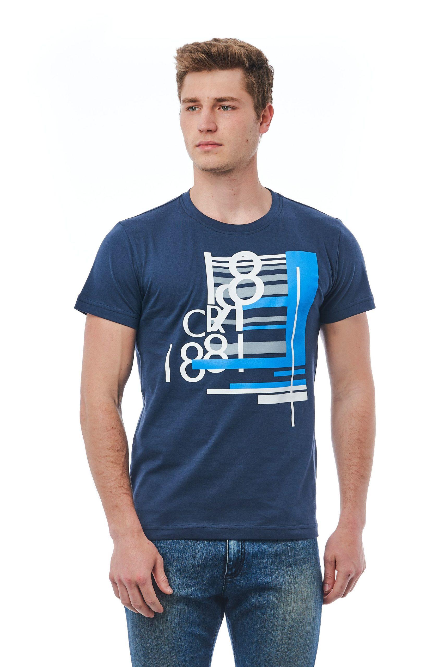 Cerruti 1881 Men's Blu Navy T-Shirt Blue CE1410094 - M