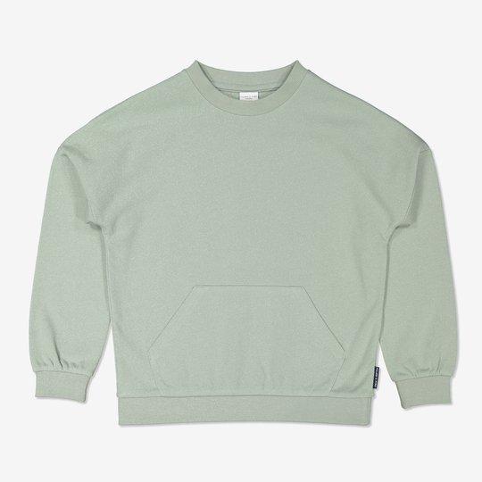 Sweatshirt med nedsenket skulder turkis