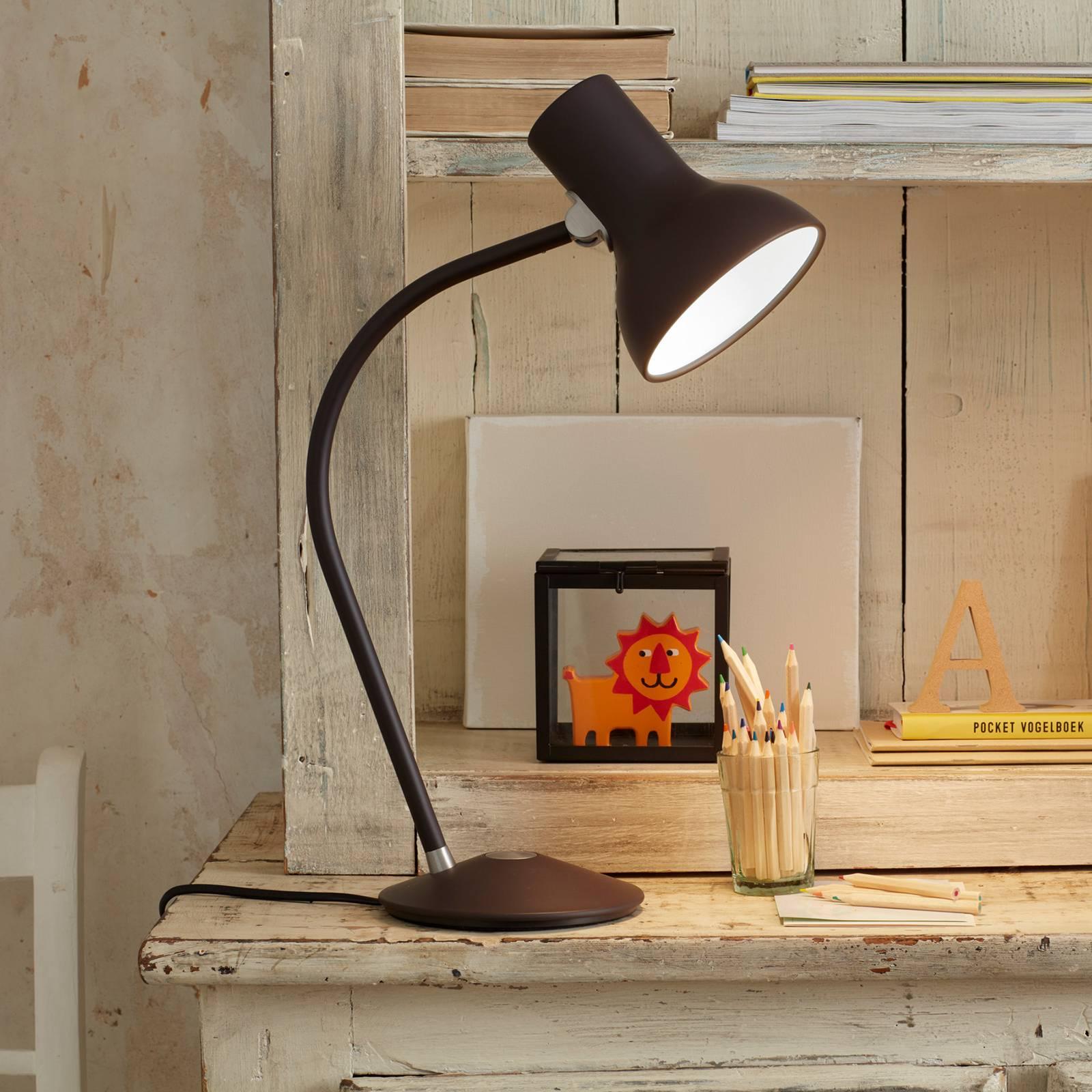 Anglepoise Type 75 Mini -pöytälamppu, ruskea-musta