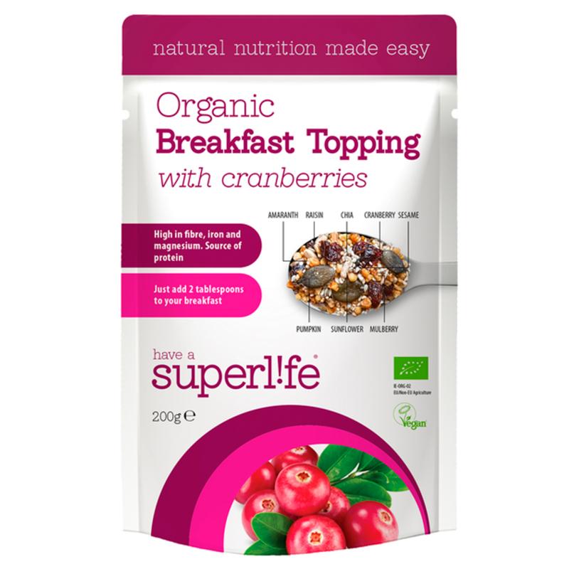 Eko Frukost Topping Cranberries - 61% rabatt