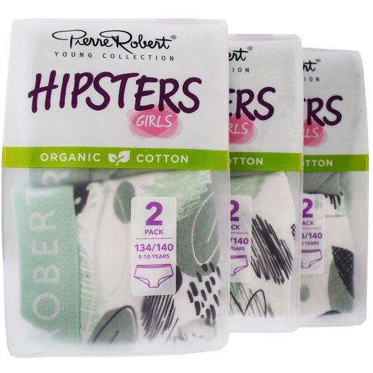 Trosor Hipsters Barn 134-140 Grön & grå 6-pack - 57% rabatt