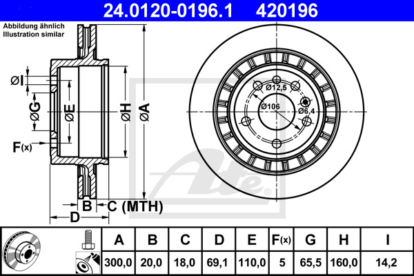 Jarrulevy ATE 24.0120-0196.1