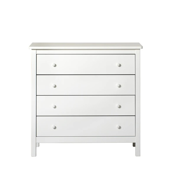 Byrå Seaside fyra lådor vit, Oliver Furniture