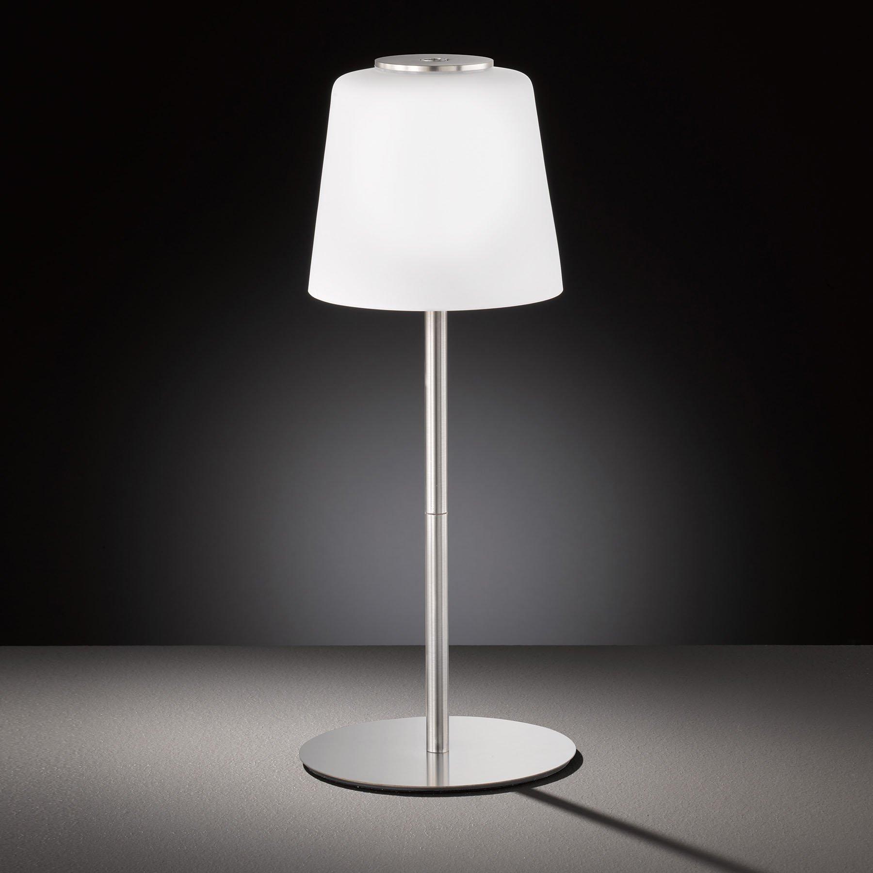 LED-bordlampe Genk med batteri og touchdimmer