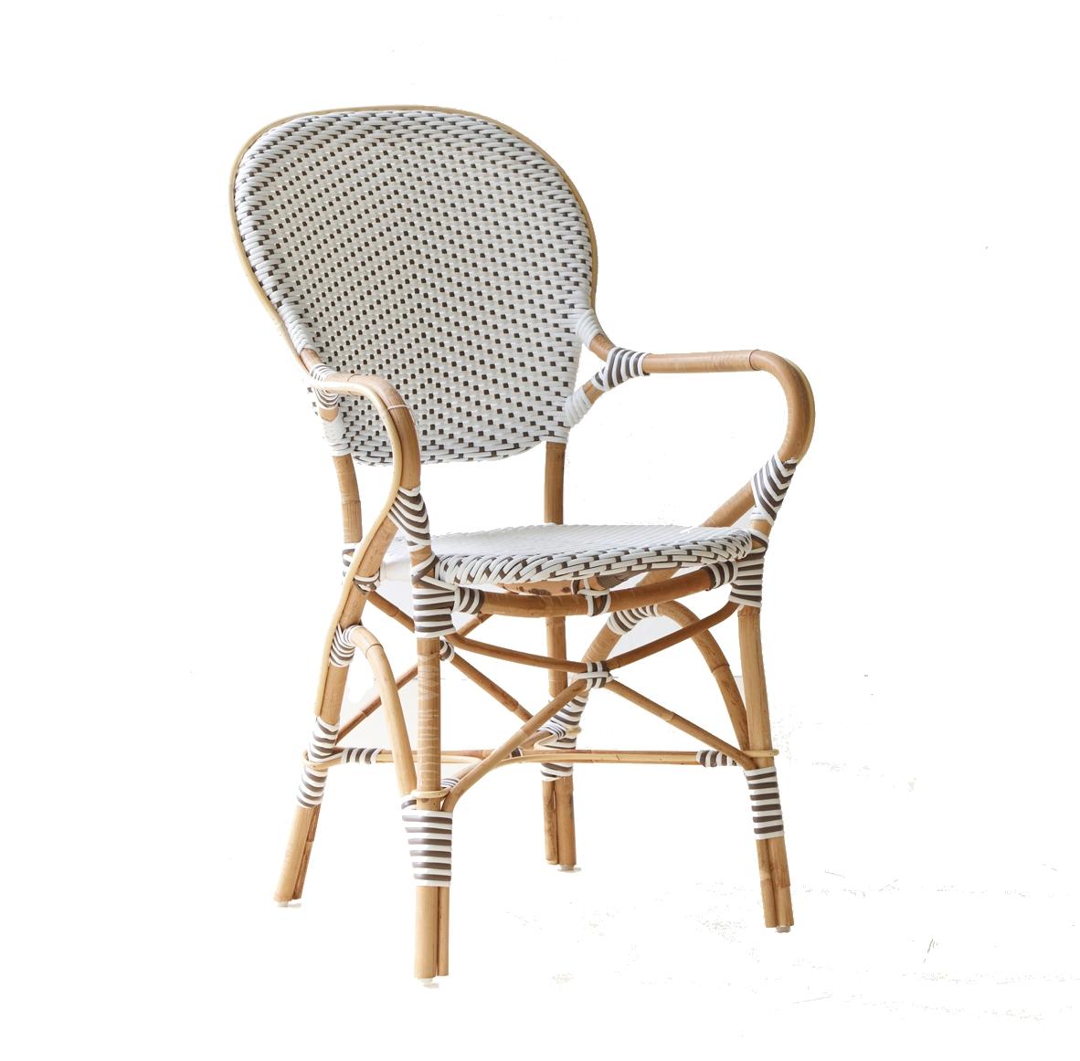 Isabell caféstol karmstol vit, Sika-design
