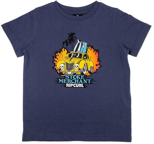 Rip Curl Arty SS Tee Groms T-shirt, Blue Indigo 90