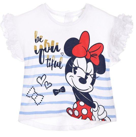 Disney Minni Mus T-Skjorte, Off White, 12 Måneder
