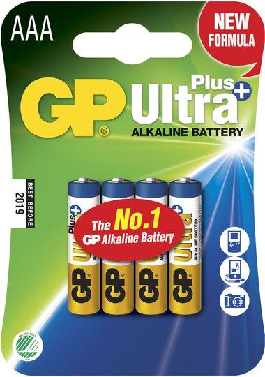 GP Batterier Ultra Plus Alkaline AAA 4-pack