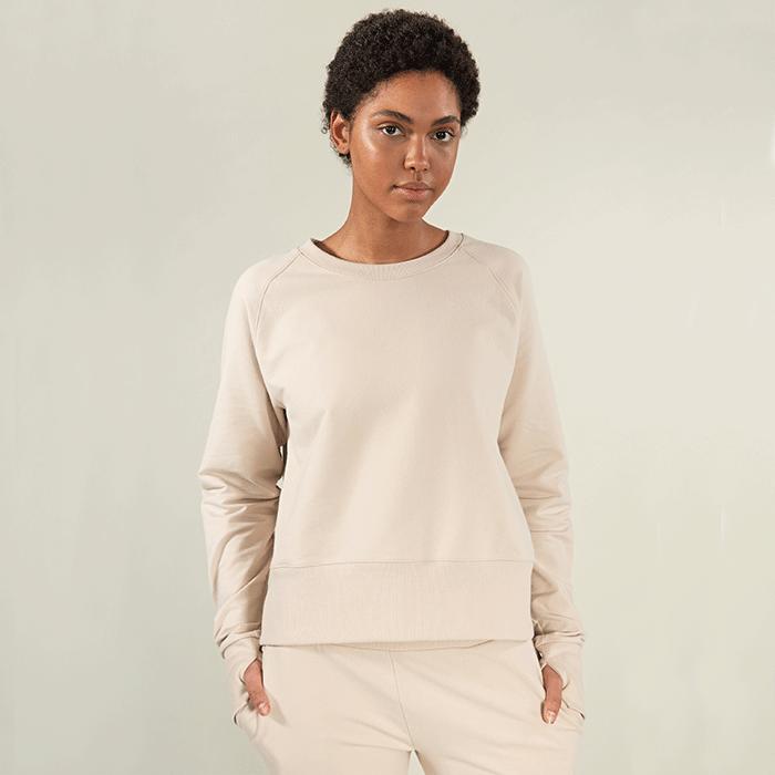 GOTS Sweatshirt, White Sand