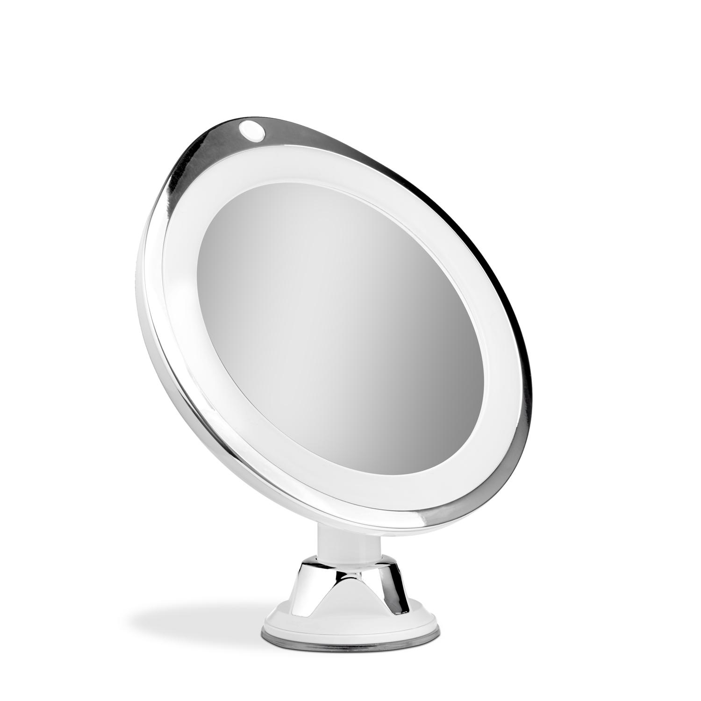 Gillian Jones - Chrome Suction Mirror x 7 w. LED Light