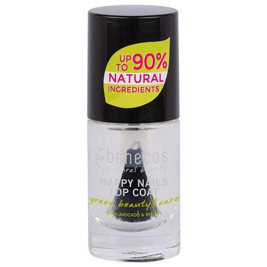 Benecos Nail Polish Happy Nails Top Coat - Crystal, 5 ml
