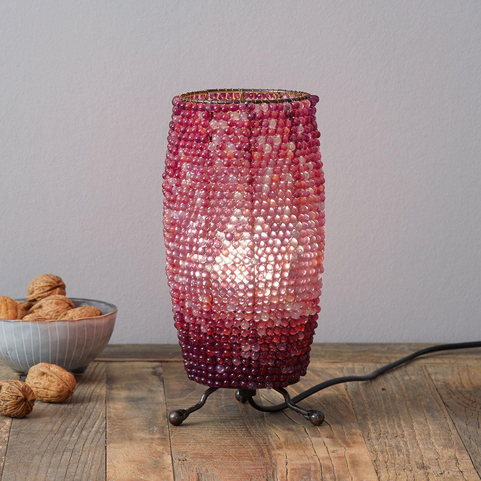 Bordlampe Perla sylindrisk form høyde 24 cm