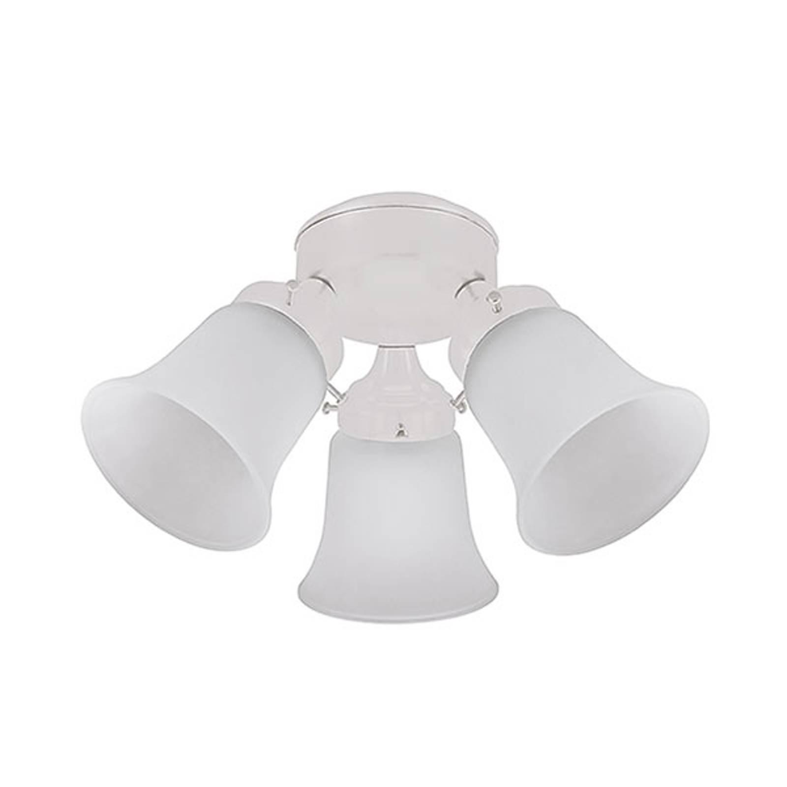 Hunter-kattotuuletinten lamppu, valkoinen