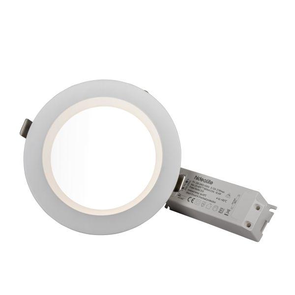 Hide-a-Lite DL Plano Basic Alasvalo valkoinen Ø170 mm