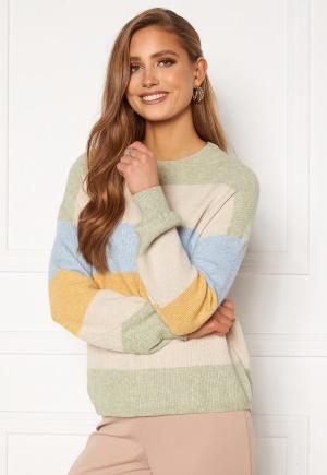 ONLY Atia L/S Stripe Pullover Knt Desert Sage/ Stripes XS
