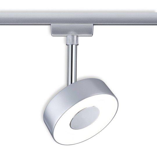 Paulmann URail Circle -LED-spotti, kromia