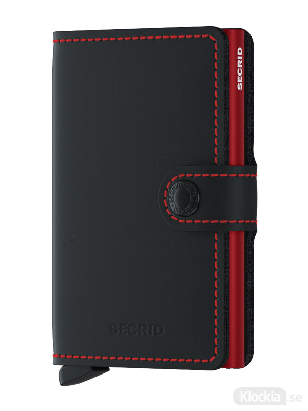 SECRID Miniwallet Matte Black & Red MM-Black-Red
