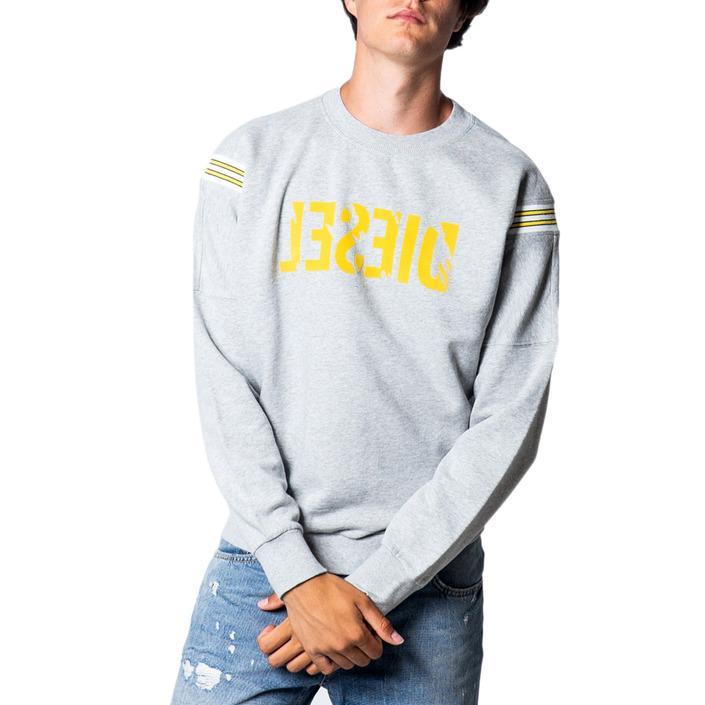 Diesel Men's Sweatshirt Grey 175422 - grey-3 S