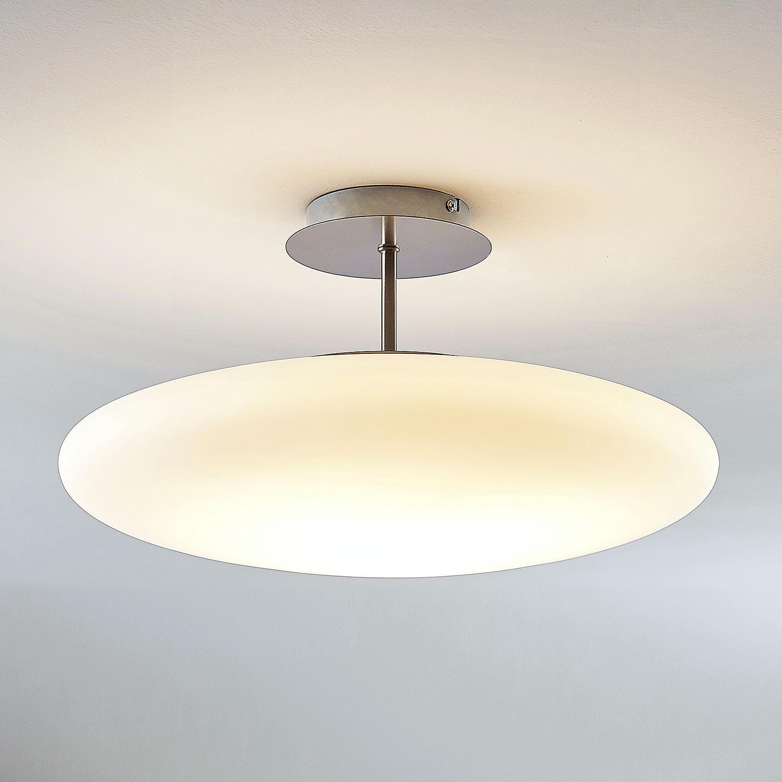 LED-opaalilasi-kattovalaisin Gunda, valkoinen