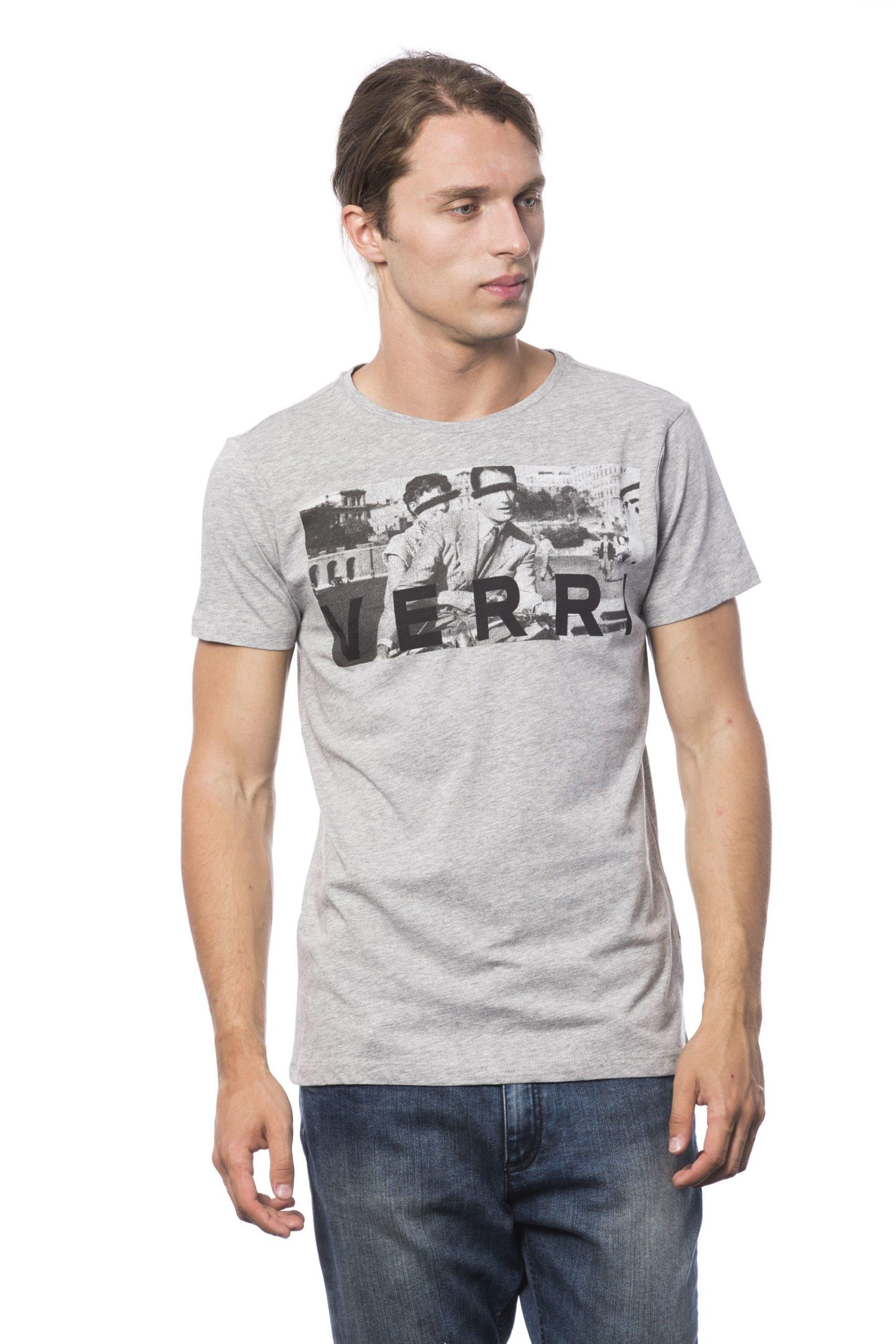 Verri Men's Grigio Ml Grey Ml T-Shirt Gray VE688457 - L