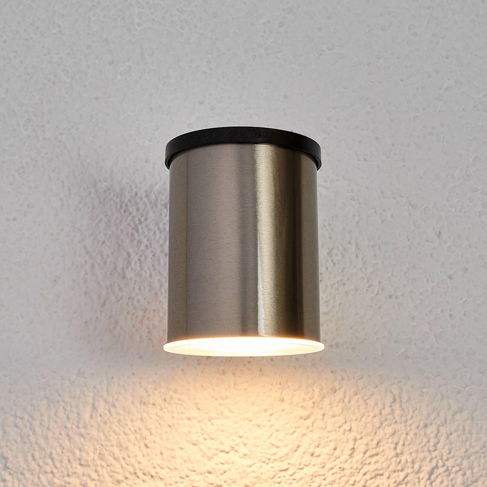LED-solcelle-vegglampe Tyson, rund, klar