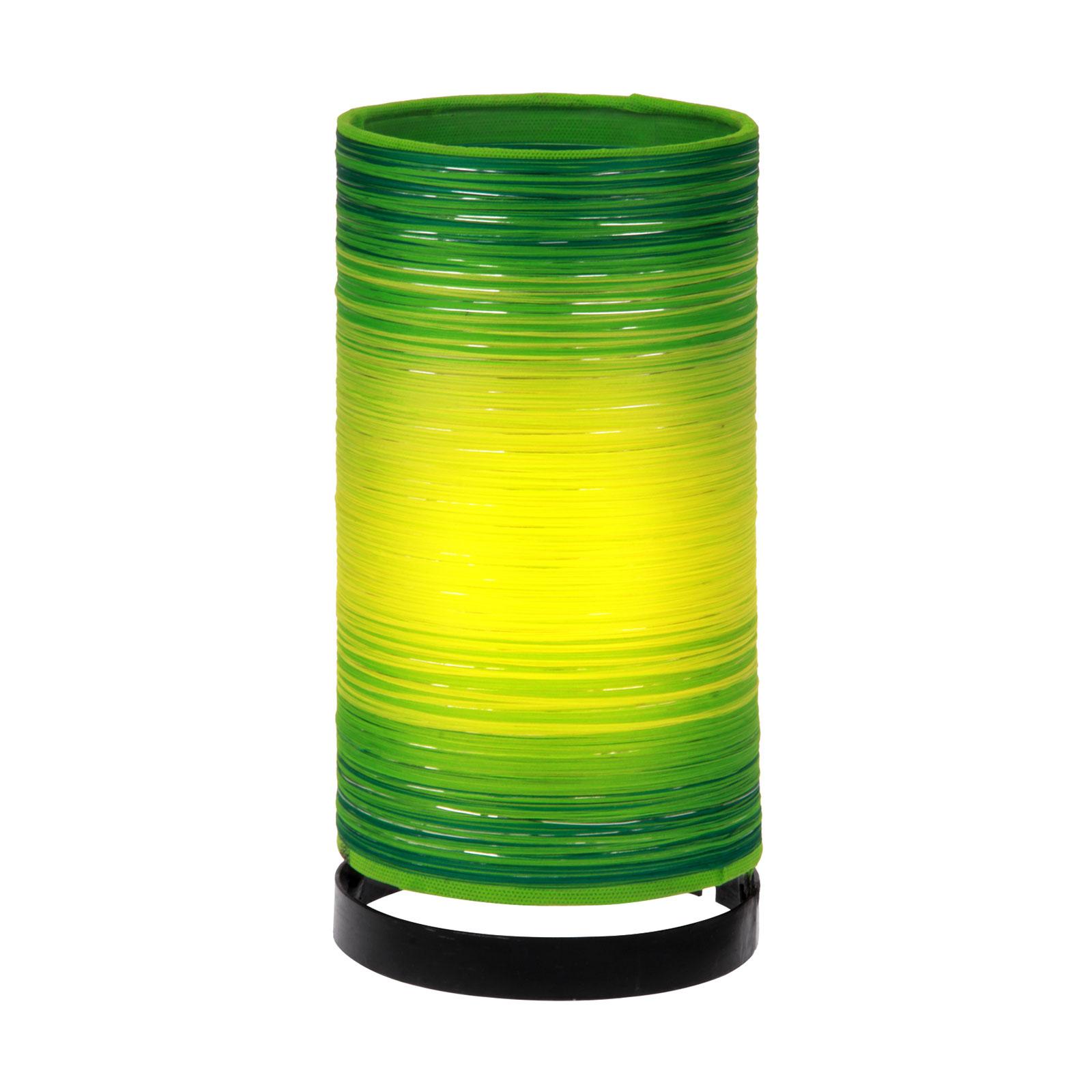 Pöytälamppu Julie, kiertävät narut, vihreä