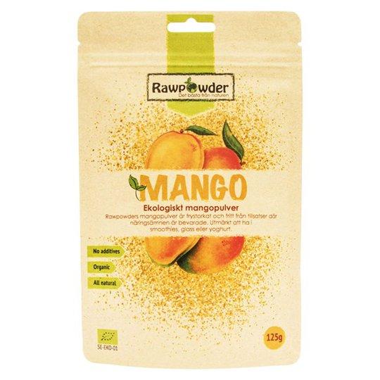 Rawpowder Ekologiskt Mangopulver, 125 g