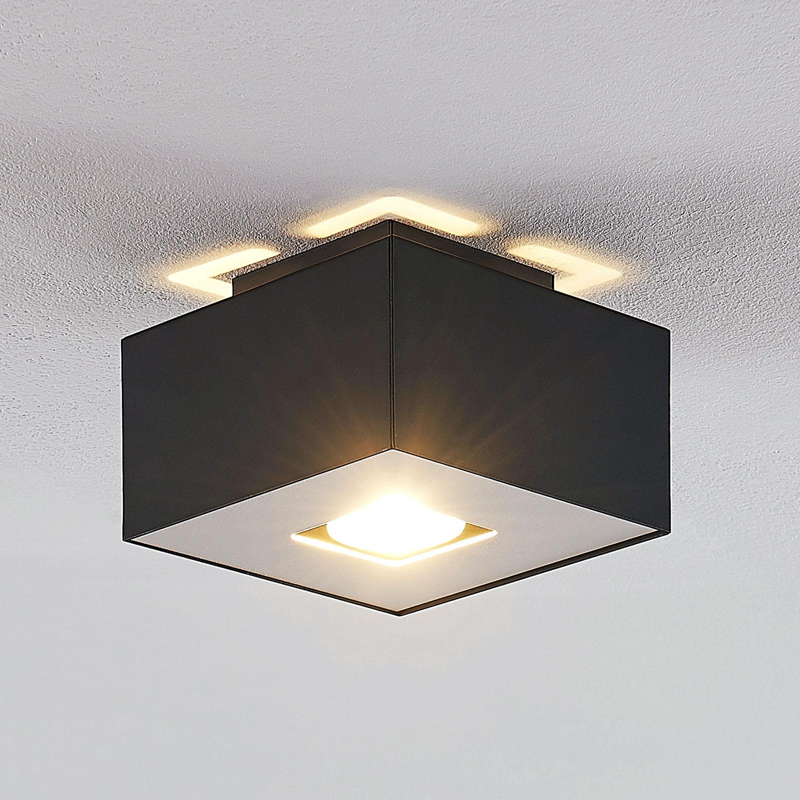 Lindby Kasi -kattovalaisin, musta, 1-lamppuinen