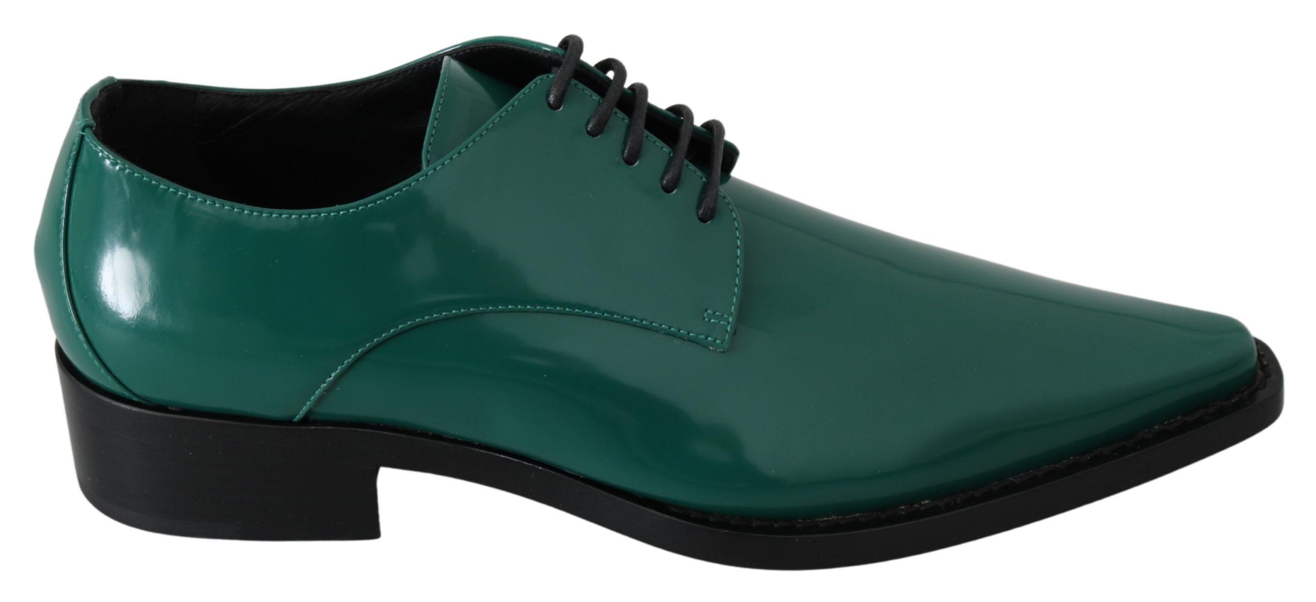 Dolce & Gabbana Women's Leather Formal Dress Broque Shoe Green LA7211 - EU38/US7.5