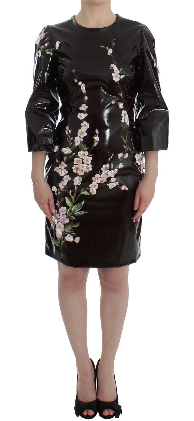 Dolce & Gabbana Women's floral Sleeve Sheath Dress Black SIG12494 - IT42 M