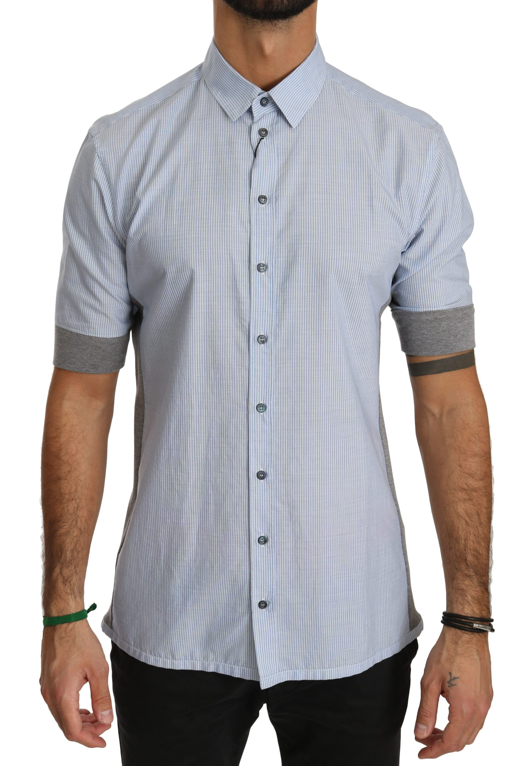 Dolce & Gabbana Men's Short Sleeve Shirt Blue TSH4019 - IT40 | M