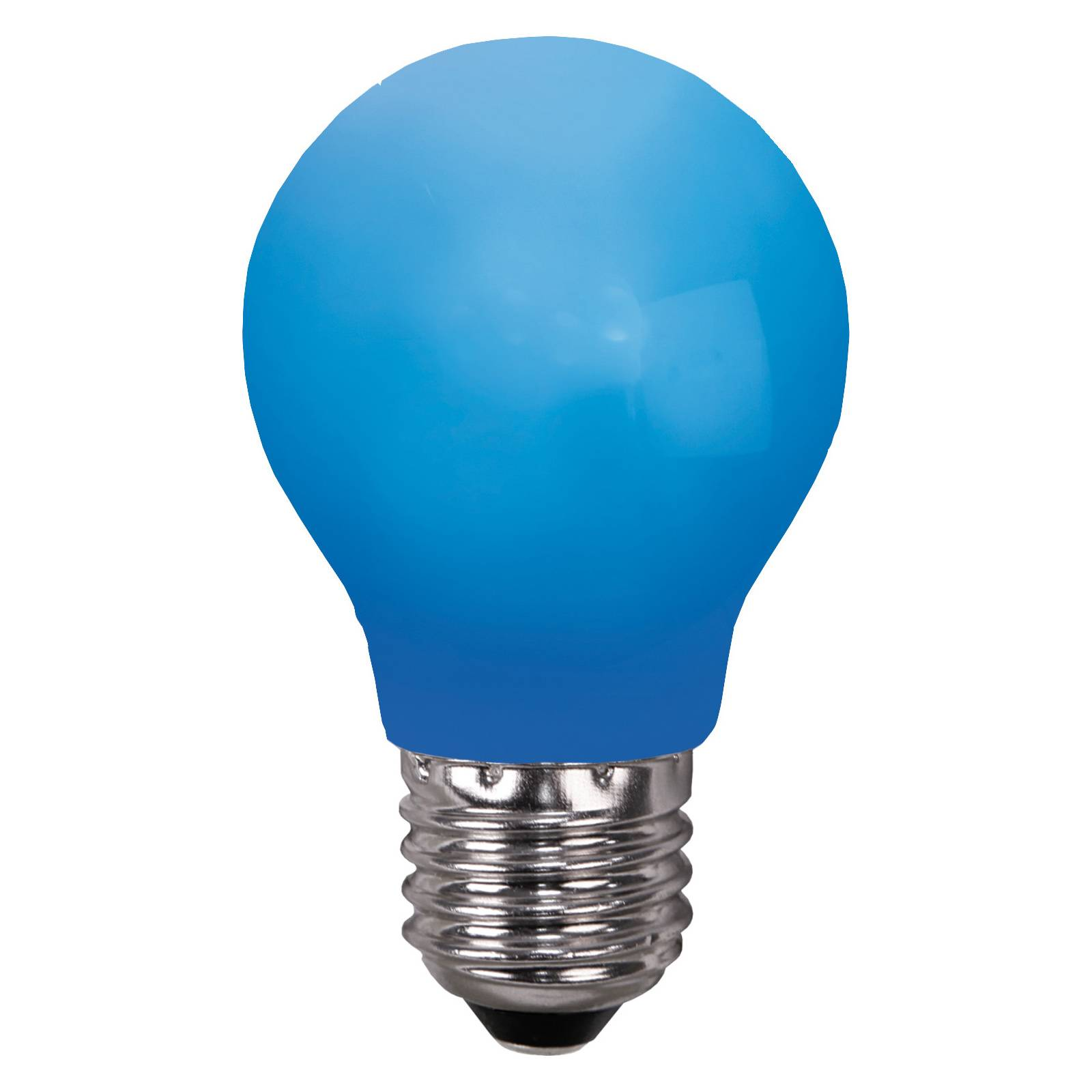 LED-lamppu E27 valoketjuihin, murtumaton, sininen