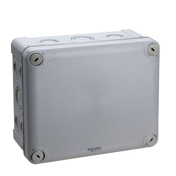 Schneider Electric ENN05090 Kytkentärasia harmaa, knock-outit, pinta-asennus 175x150x80 mm