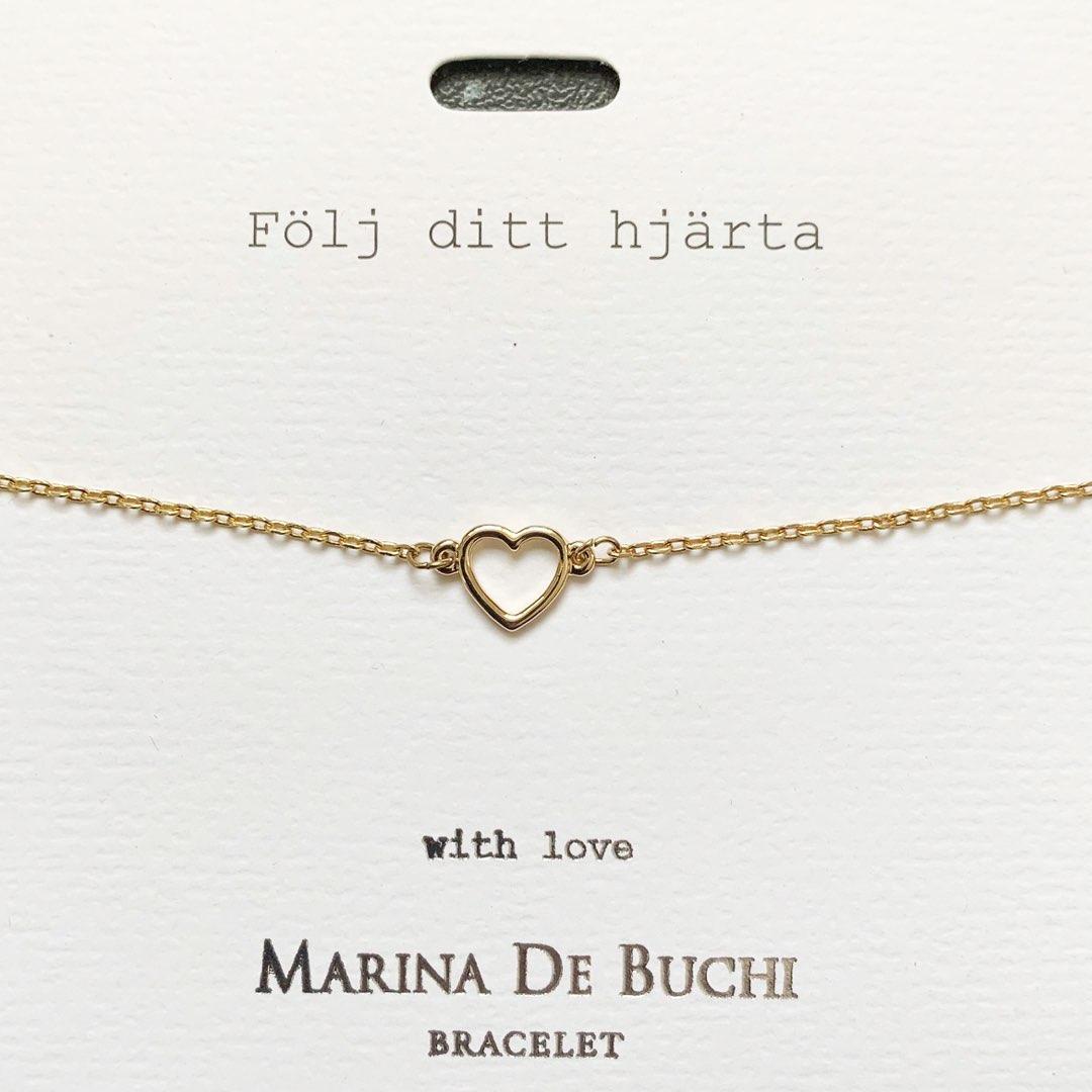 Armlänk med hjärta - Marina De Buchi