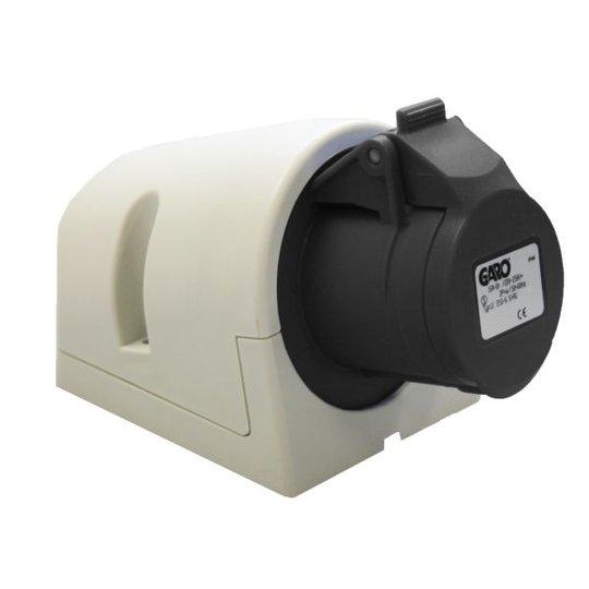 Garo UI 432-5 S + RU Seinäpistorasia IP44, 5-napainen, 32A Musta, 5 h