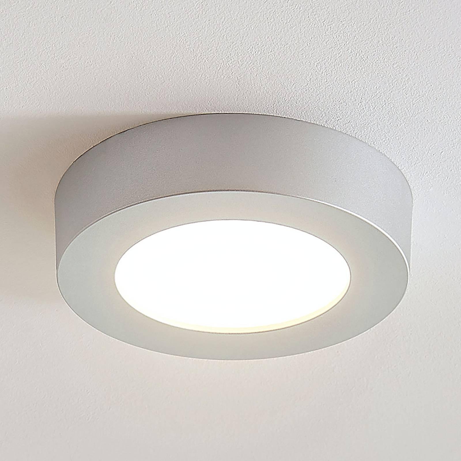 LED-kattovalo Marlo hopea 3 000 K pyöreä 18,2 cm