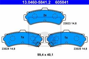 Jarrupalasarja, levyjarru, Taka-akseli, NISSAN ALMERA I, ALMERA Hatchback I, 44060-0M890
