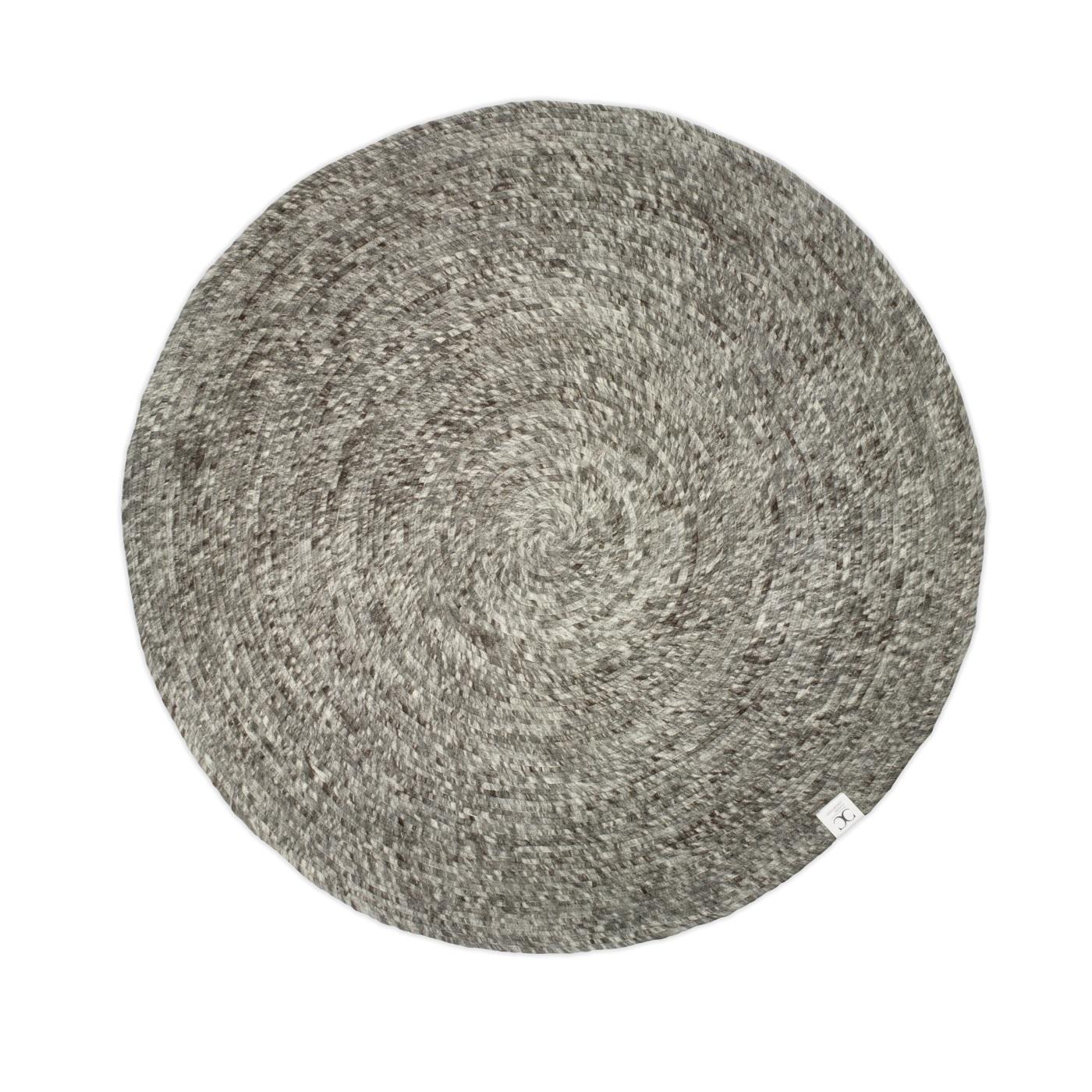 Rund ullmatta Merino grå 160 cm Classic Collection