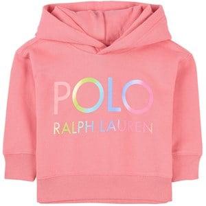 Ralph Lauren Logo Huvtröja Rosa 2 år