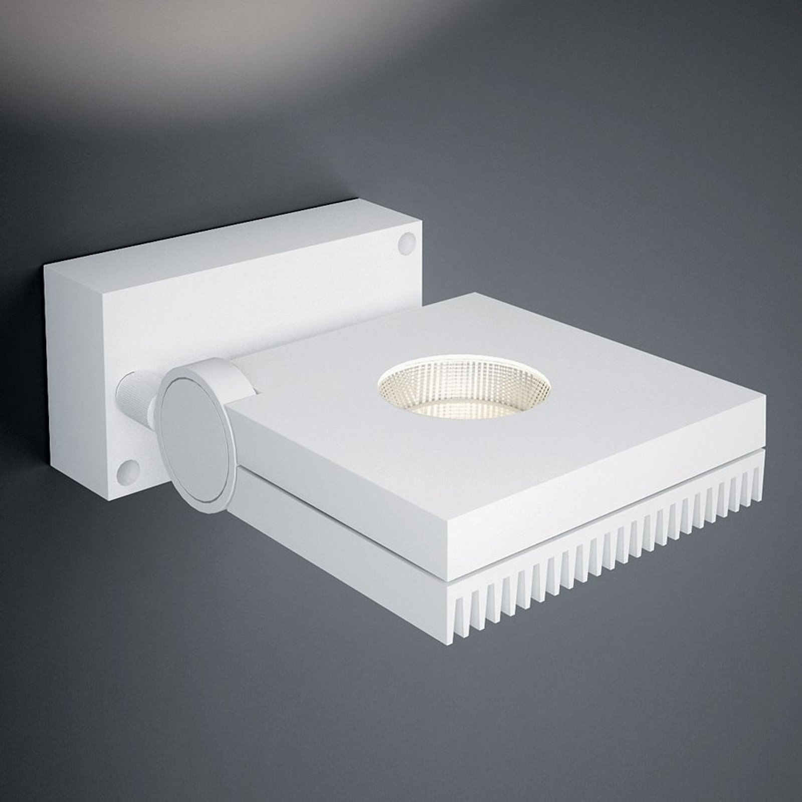 Drei- og svingbar LED-vegglampe Bridge 1 lys