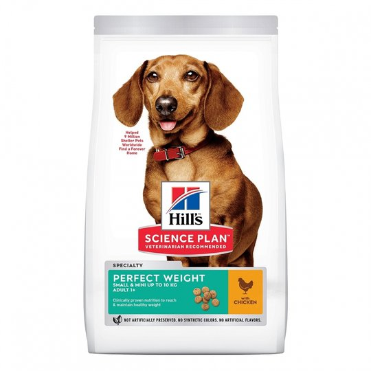 Hill's Science Plan Dog Adult Perfect Weight Small & Mini Chicken (6 kg)