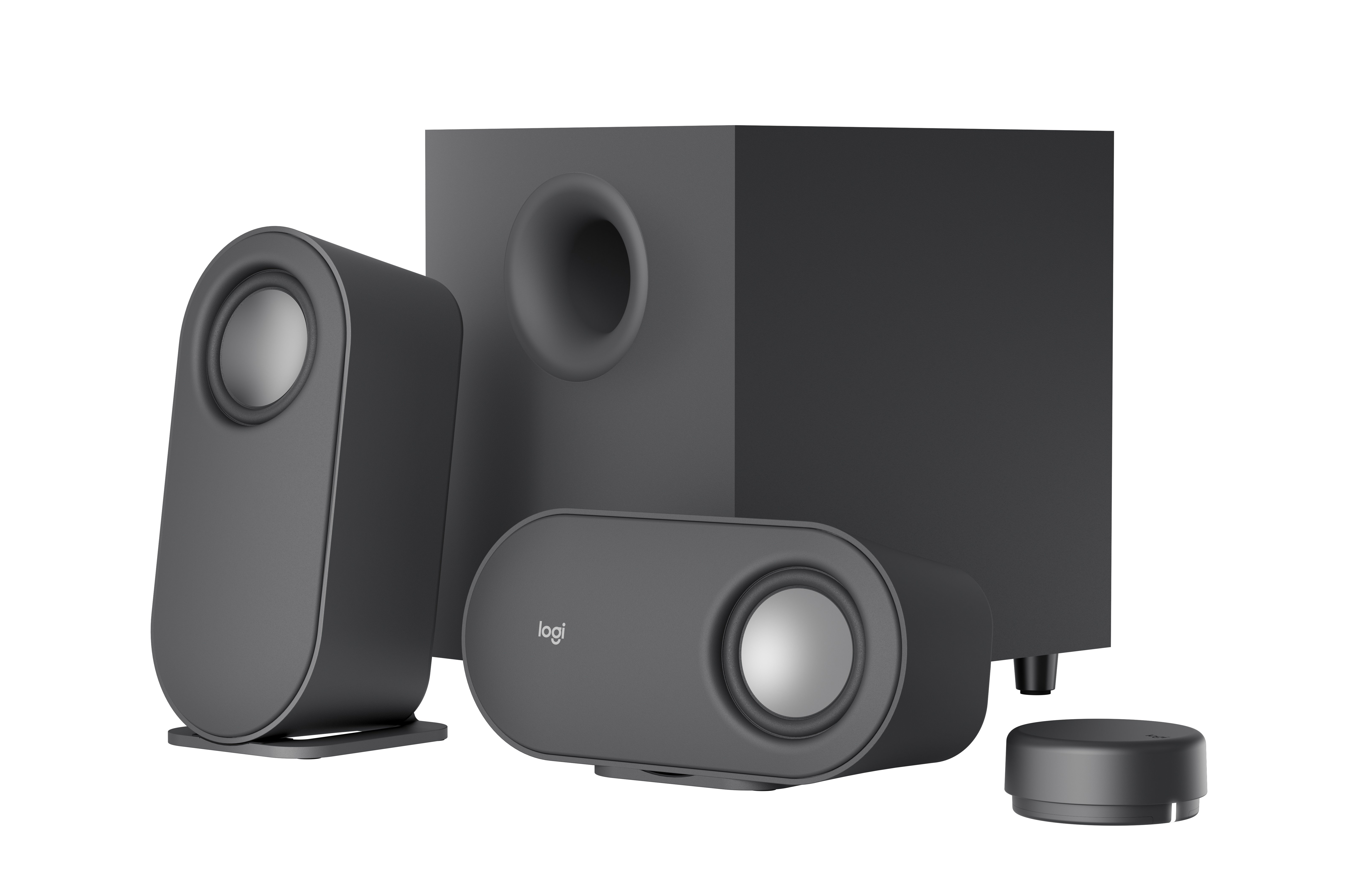 Logitech - Z407 Computer Speakers with Subwoofer and Bluetooth Connection - Graphite